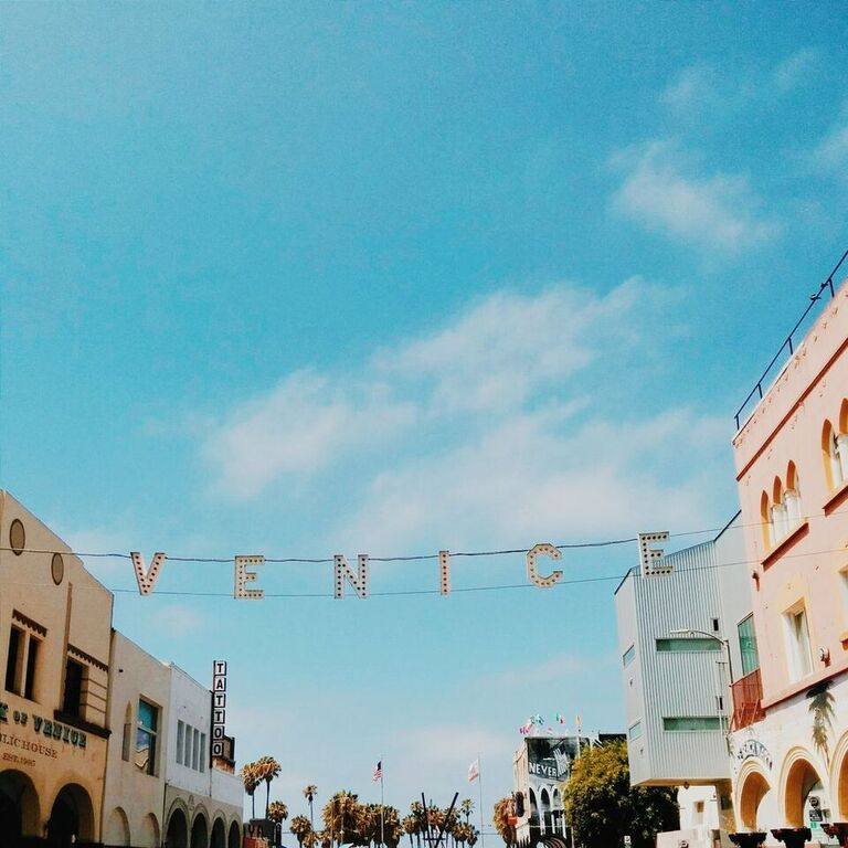 There's a great day waiting for us just beyond that sign. Let's go! #venice #losangeles #cali #socal #beach #sign