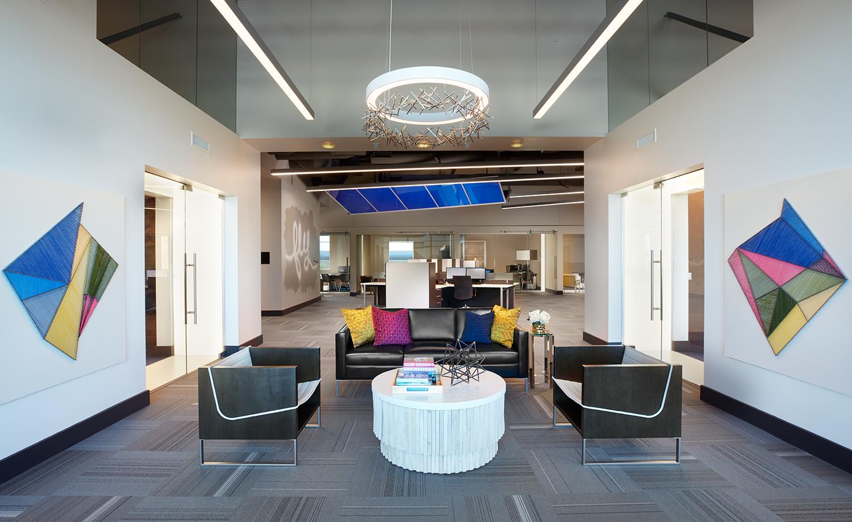 Bar Napkin Productions AvAir Headquarters Seating Area Interior Design