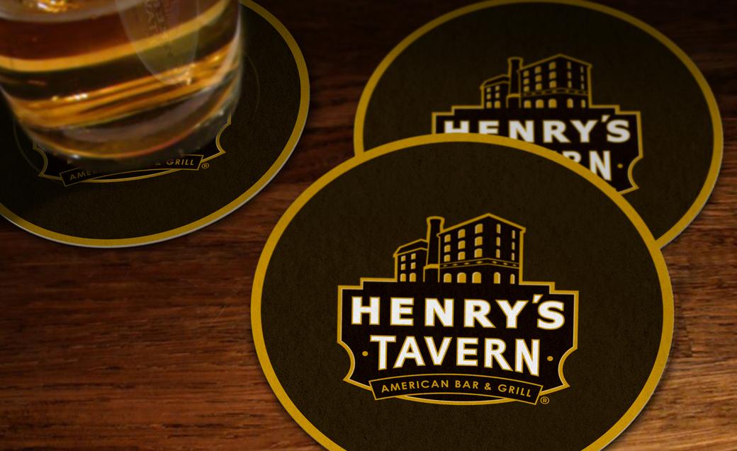 Henry's Tavern logo design