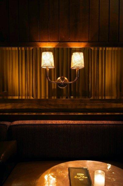 Bar Napkin Productions Merc Bar Custom Lighting Detail