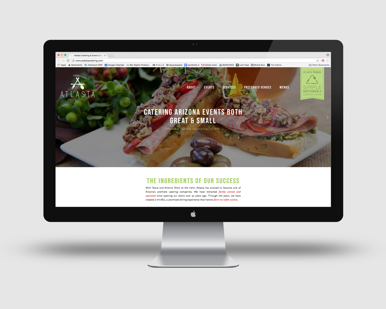 Bar Napkin Productions Atlasta Catering Website