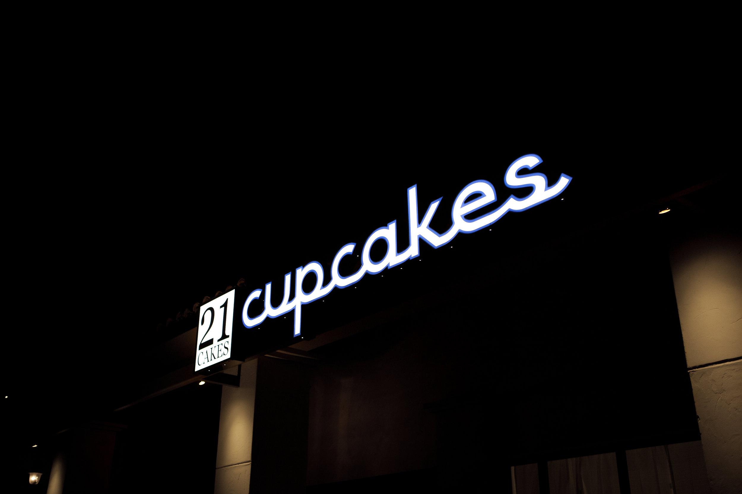 Bar Napkin Productions 21 Cakes Branding Exterior Signage