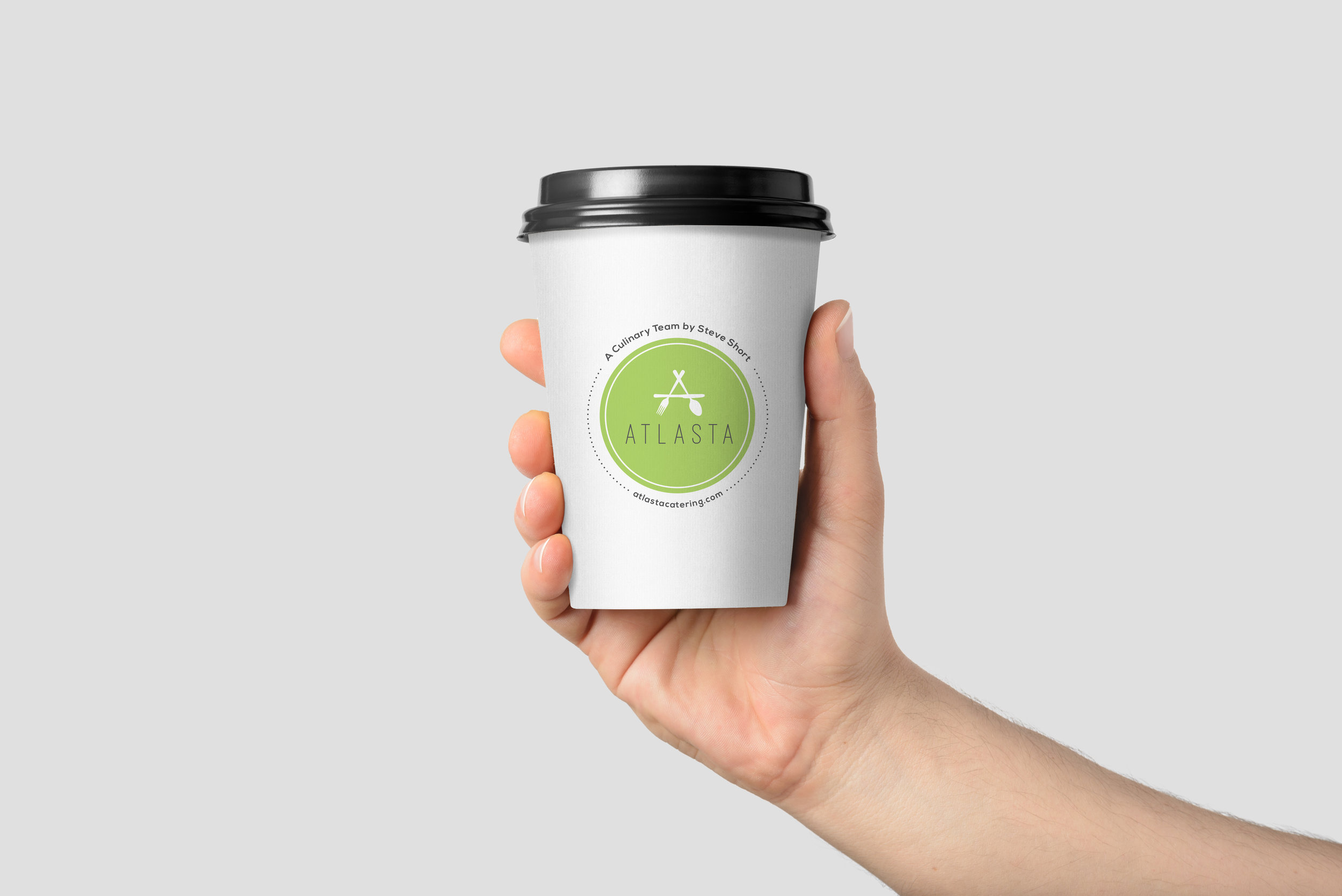 Bar Napkin Productions Atlasta Catering Branding Coffee Cup