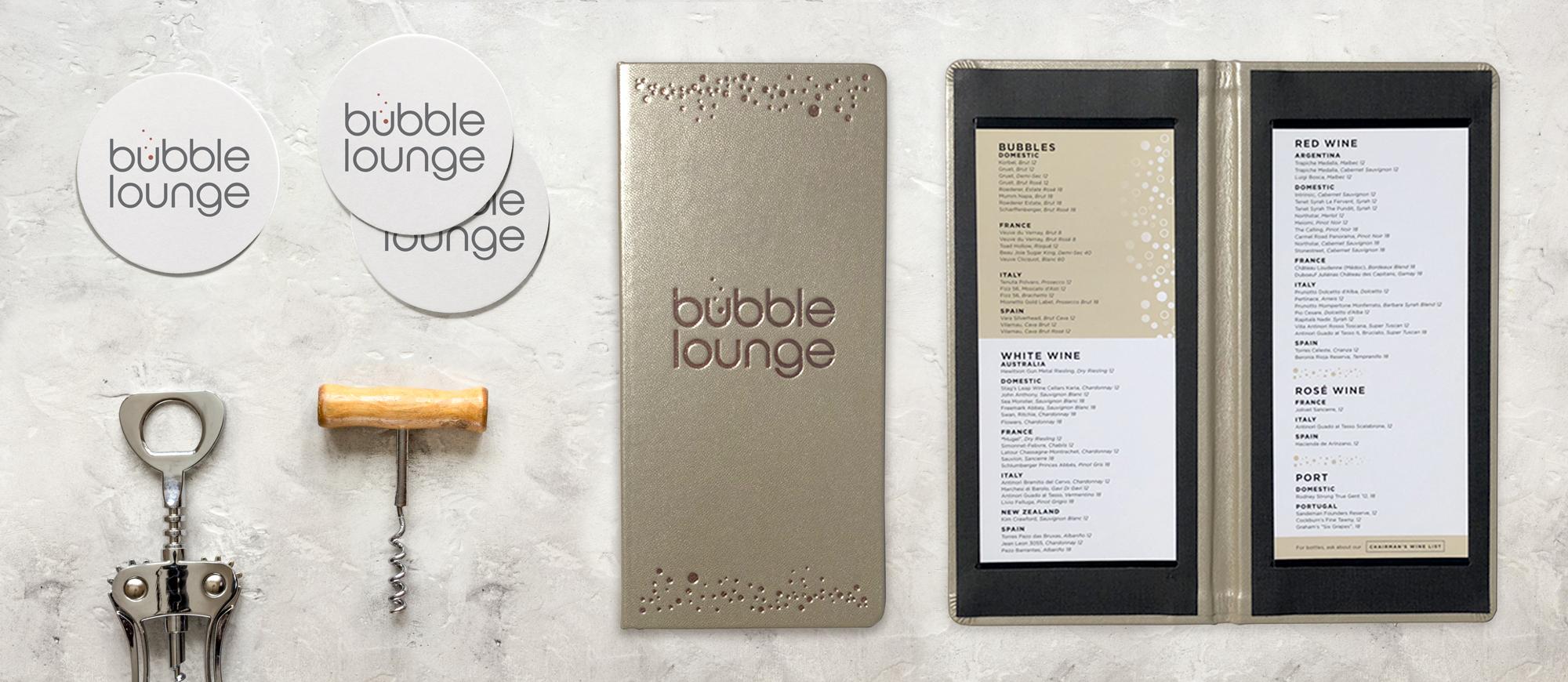 Bar Napkin Productions Arizona Cardinals Bubble Lounge Branding