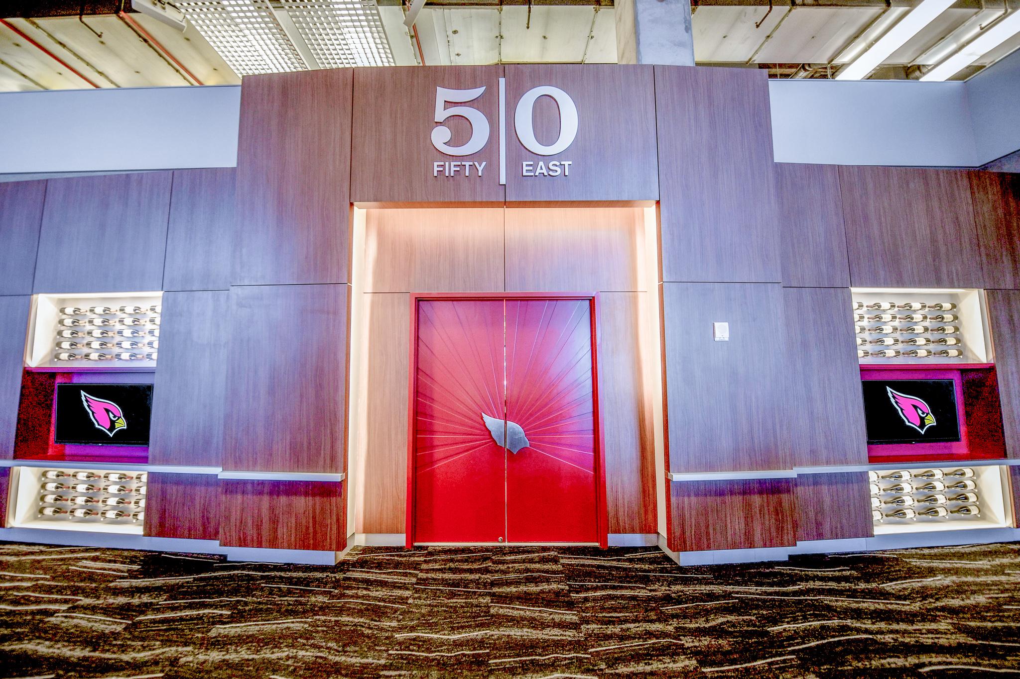 Bar Napkin Productions Arizona Cardinals VIP Club Suite Door