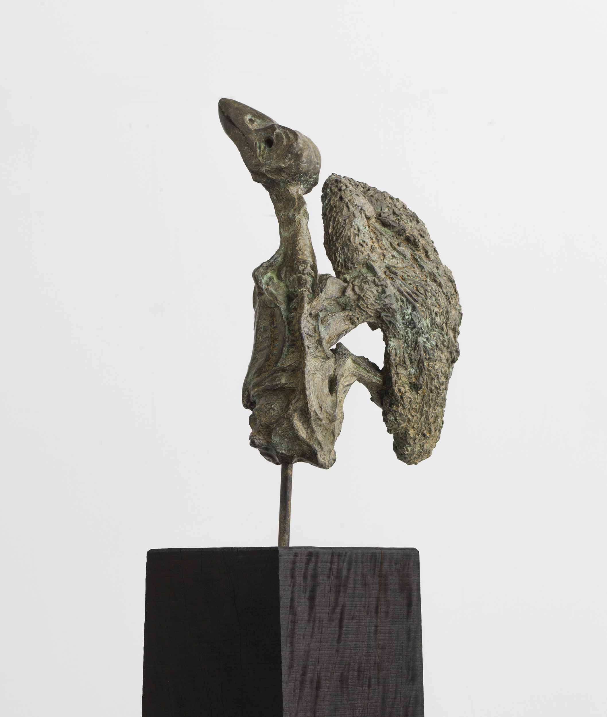 Chained To The Nest, 1974, Bronze On Wood Base, Bronze Dimensions 74x41x22cm, 18.4kg © Johnnie Cooper, Courtesy of the artist.jpg