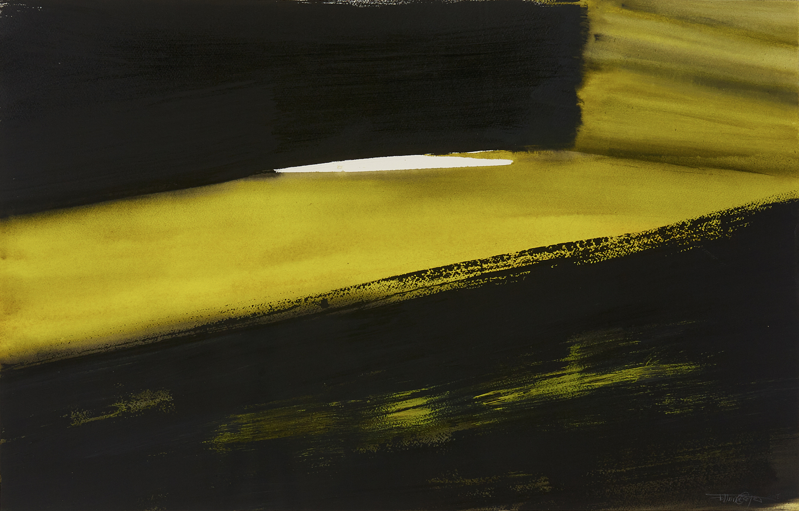 Slope, 2018, acrylic on paper, 61 x 97.6 cm © Johnnie Cooper, Courtesy of the artist.jpg