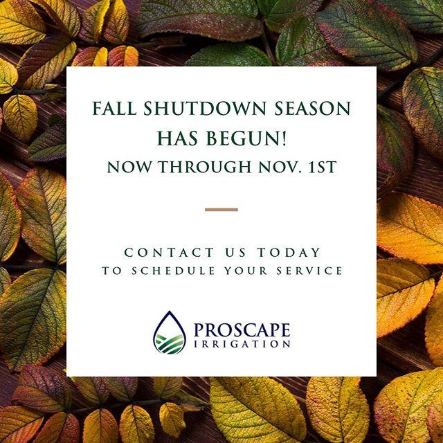 We love Fall! #proscape #irrigation #southernmainecoast #autumn #maine