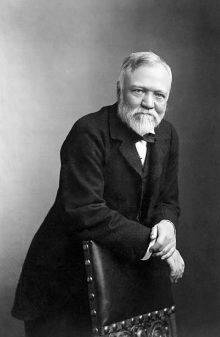 Carnegie was a poor immigrant. Then he became the richest man in America. He used that wealth to build 3,000 libraries, found a university, and start The Carnegie Endowment for International Peace -- to abolish war forever.