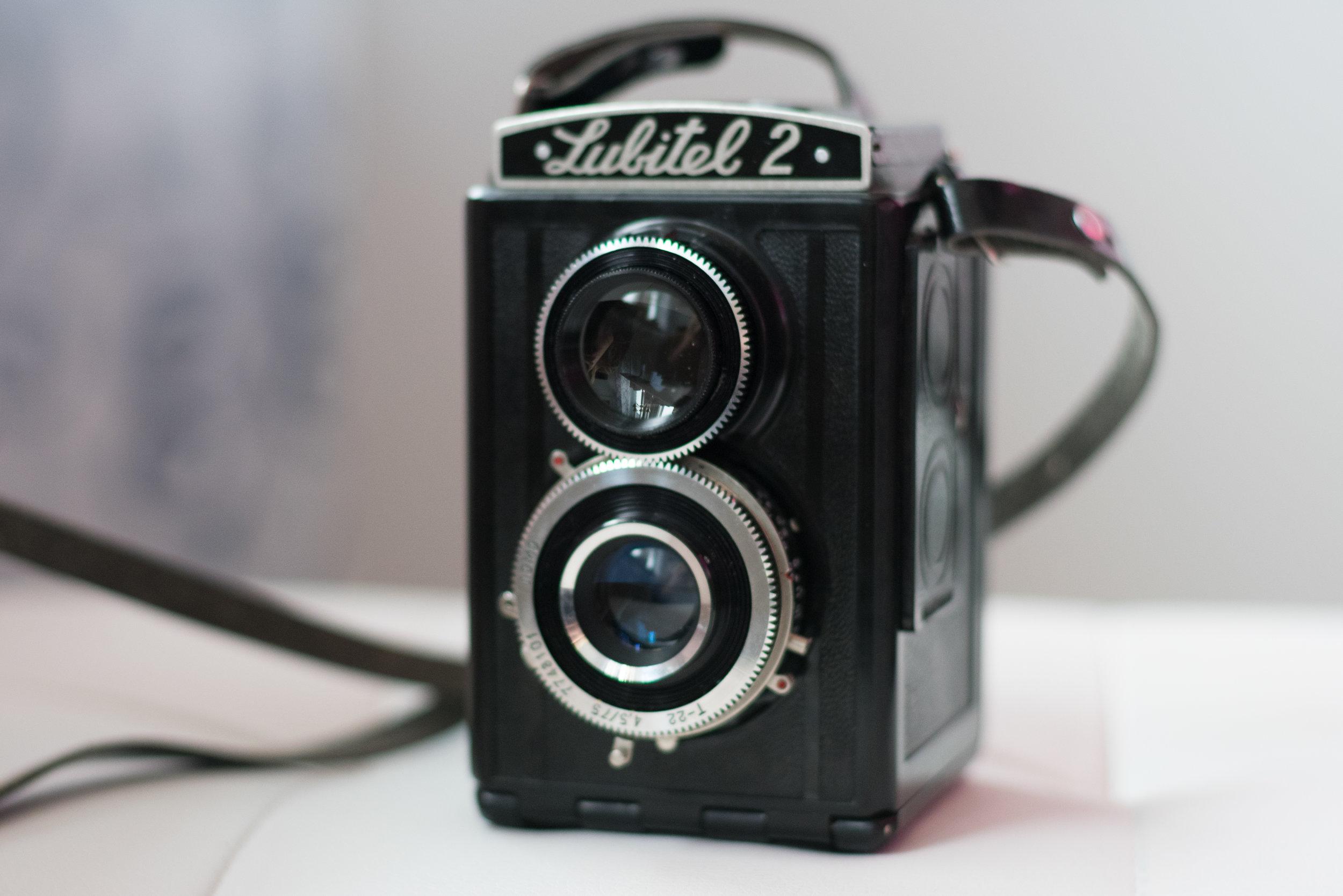 old school film camera