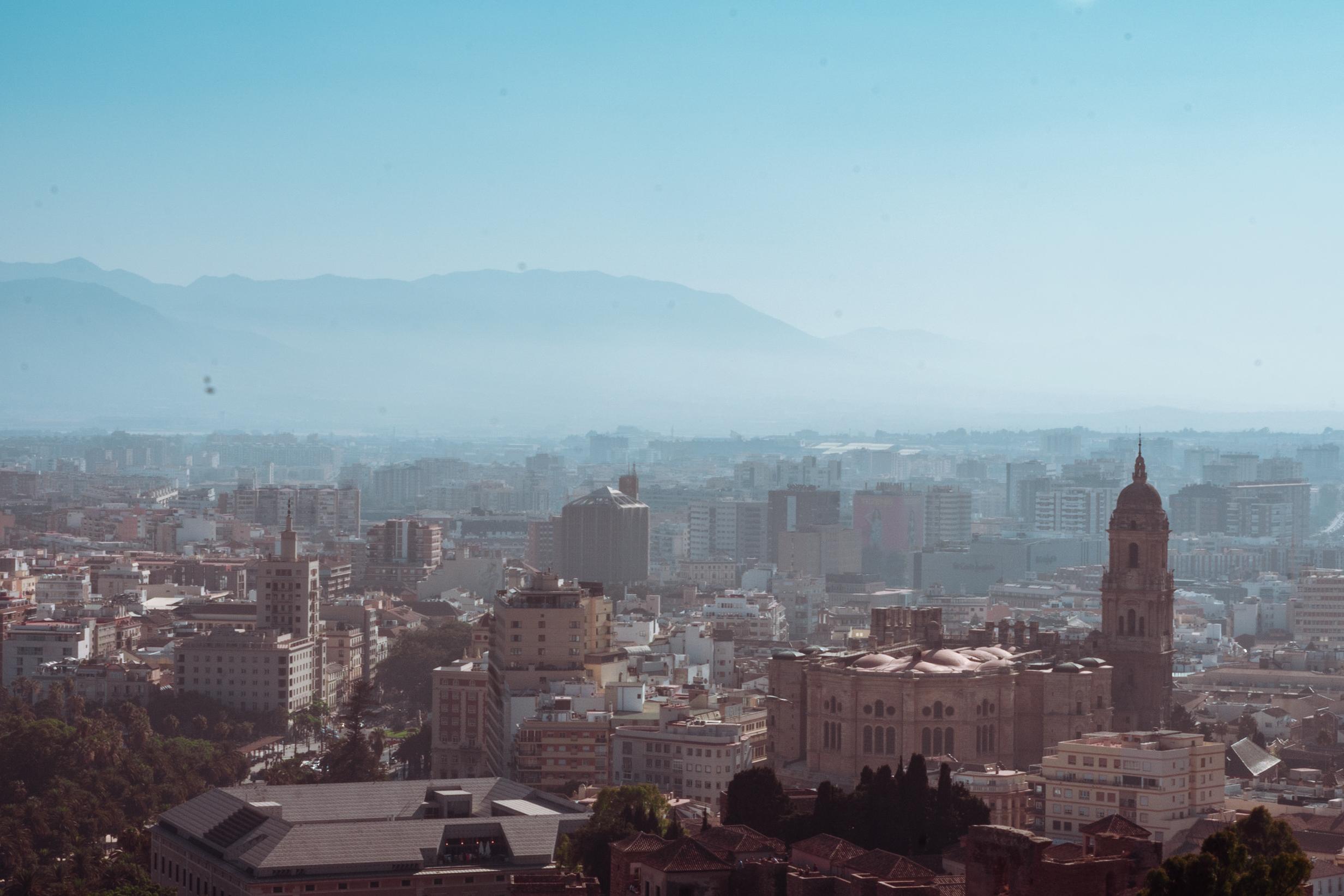 Málaga from above, Spain