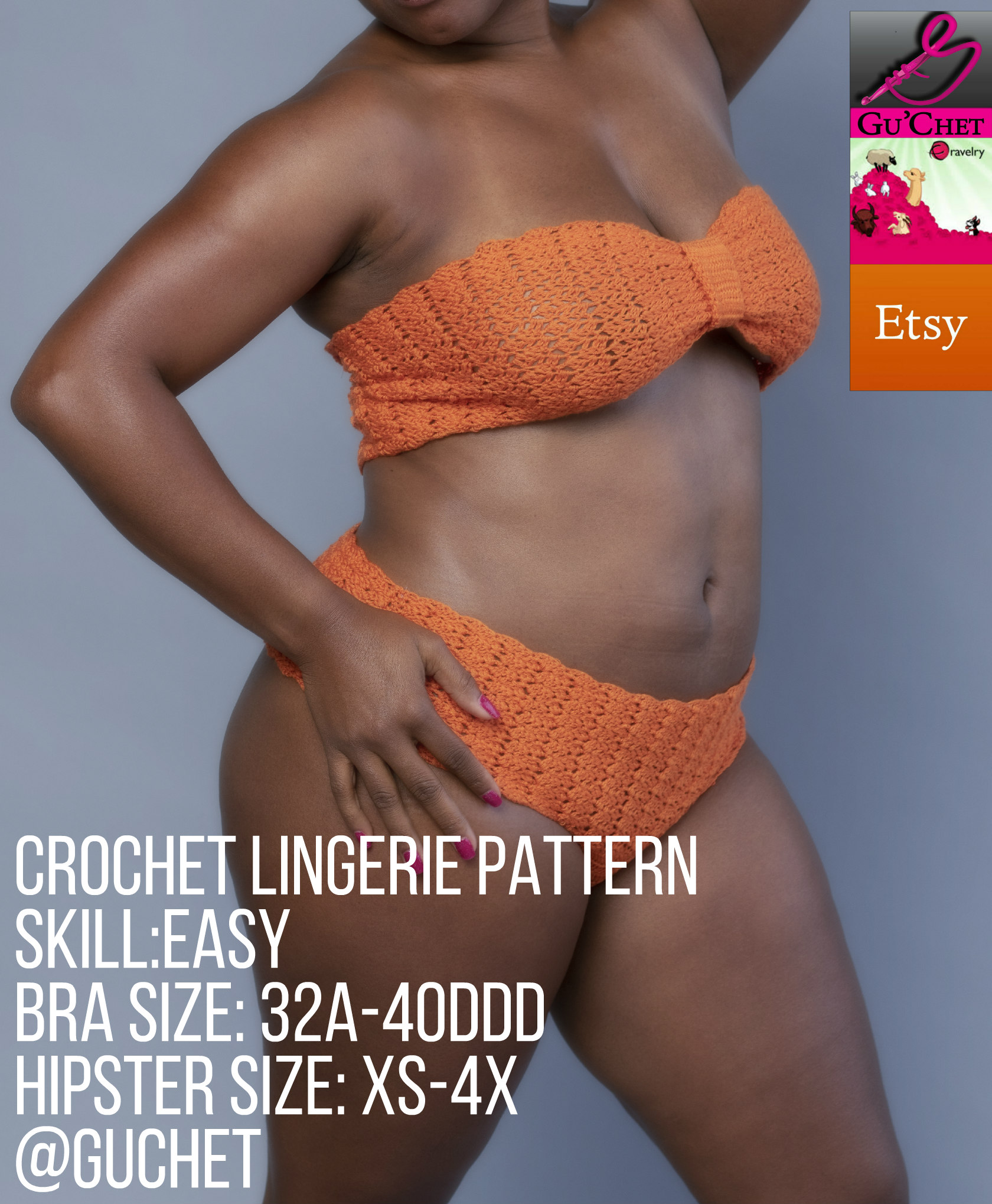 Crochet Lingerie Pattern by GuChet_Bandeau & Hipseter Set Set with tags 1.jpg