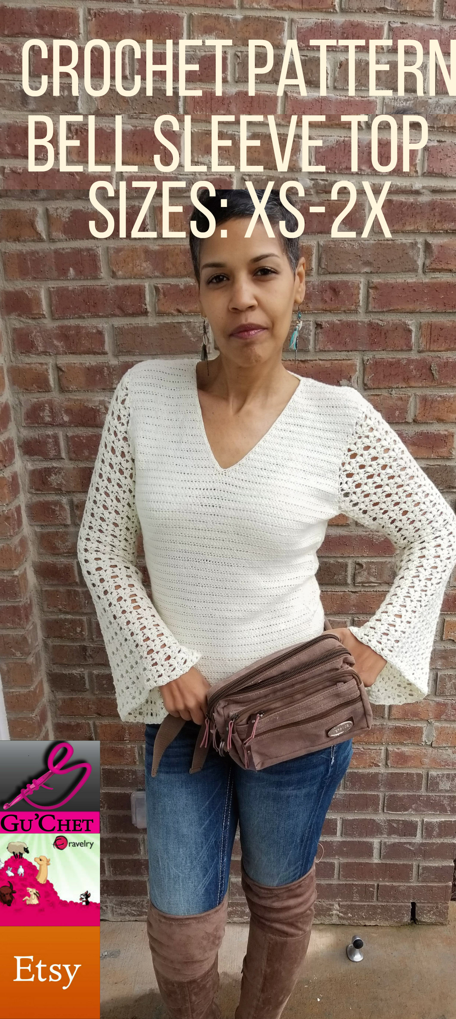 10_Crochet Top Pattern by GuChet_Bell Sleeve Top_6.jpg