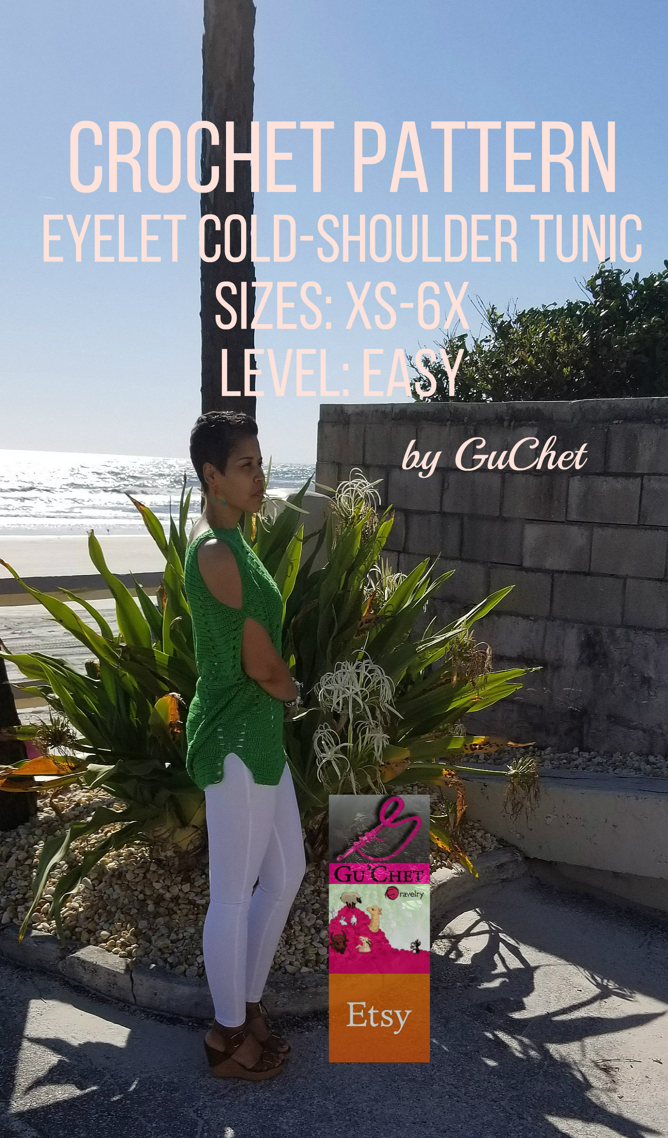 Crochet Eyelet Cold-Should Tunic Pattern by GuChet