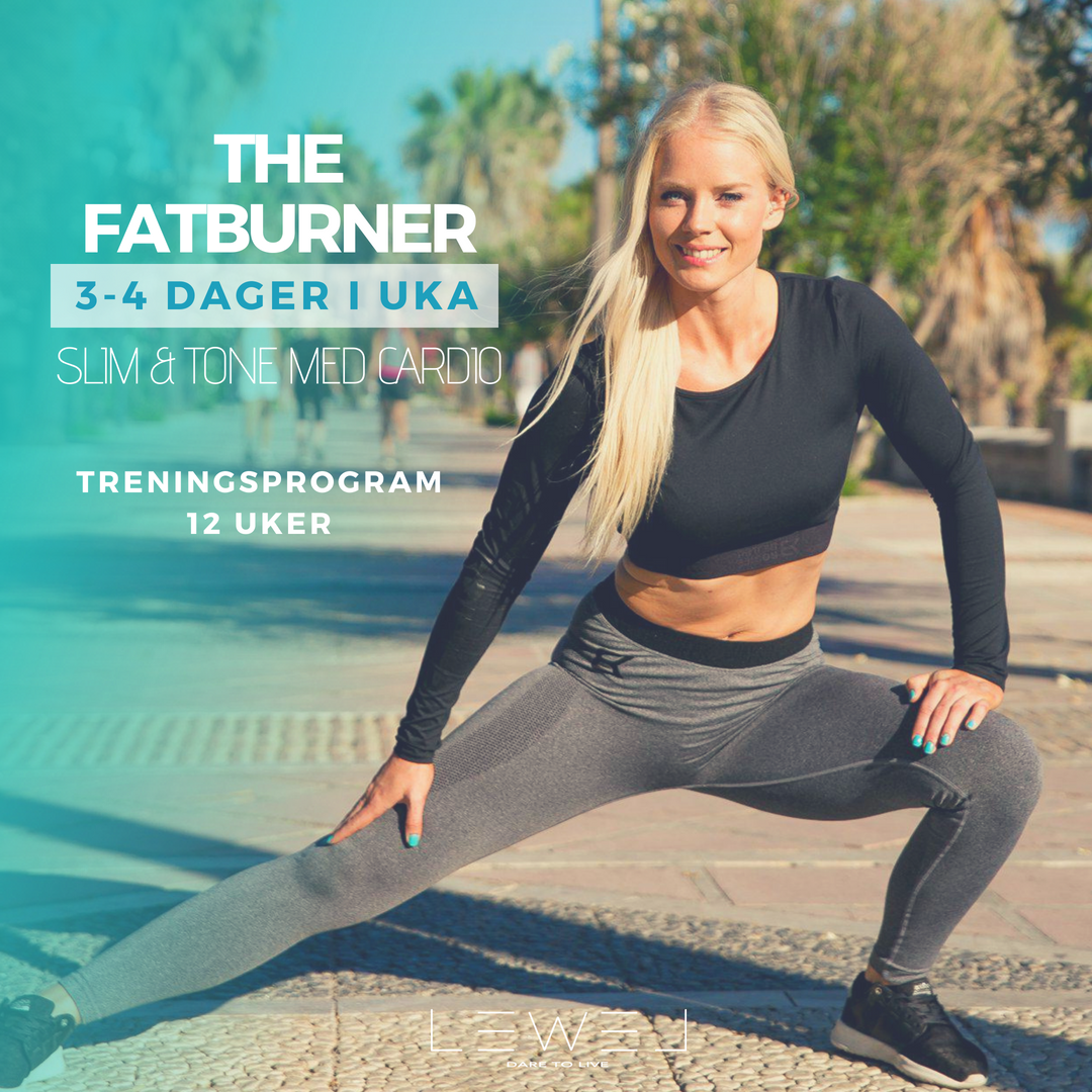 THE FATBURNER - Overskriften taler for seg! Er du ute etter å forbrenne overflødig fett med intensive økter som inkluderer supersett, sirkeløkter, intervalltrening og en hjemme-trenings dag, er dette pakken for deg!Legg til en ekstra dag med cardio for en ekstra fettforbrennende effekt!