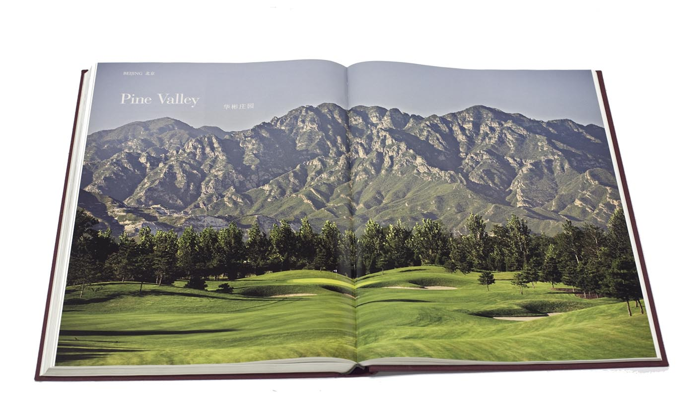 "The spread of  The Great Golf Courses of China  is 24"" across and 18 inches tall"