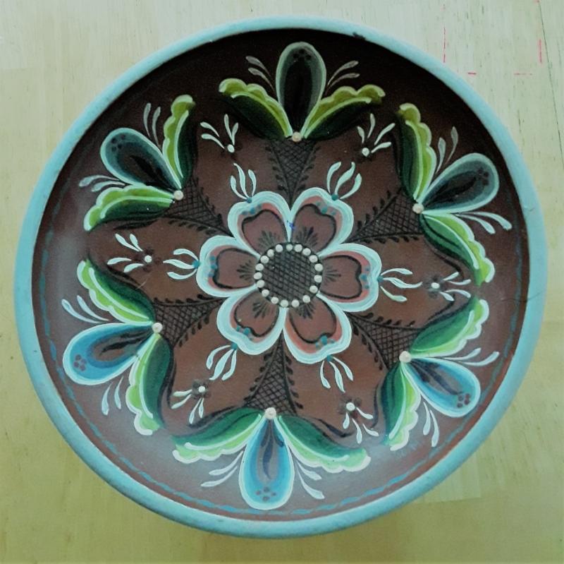 Examples of my Grandma Jo's Scandinavian Rosemaling - like a kind of Nordic Mandala.