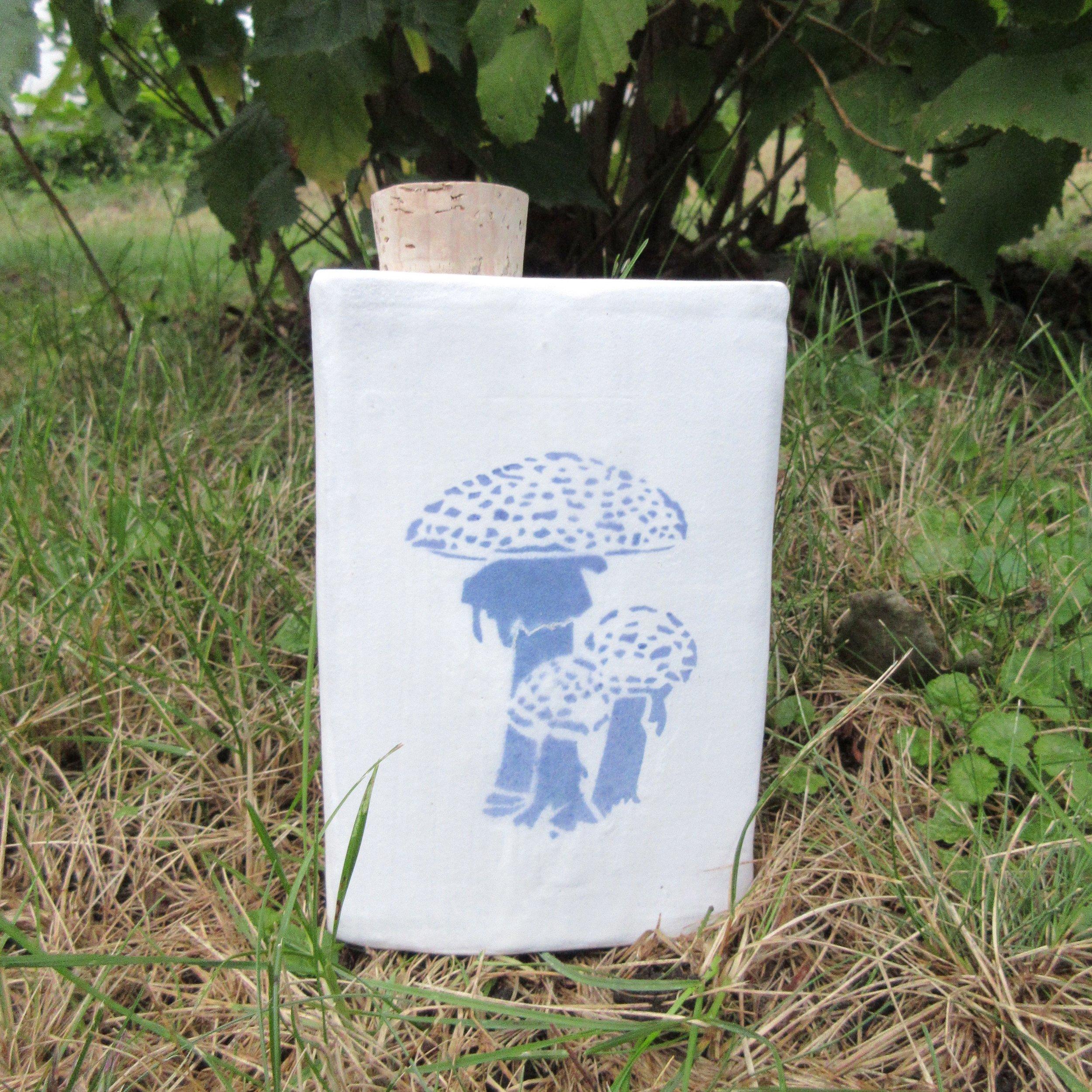 Ceramic Mushroom Tea flask.