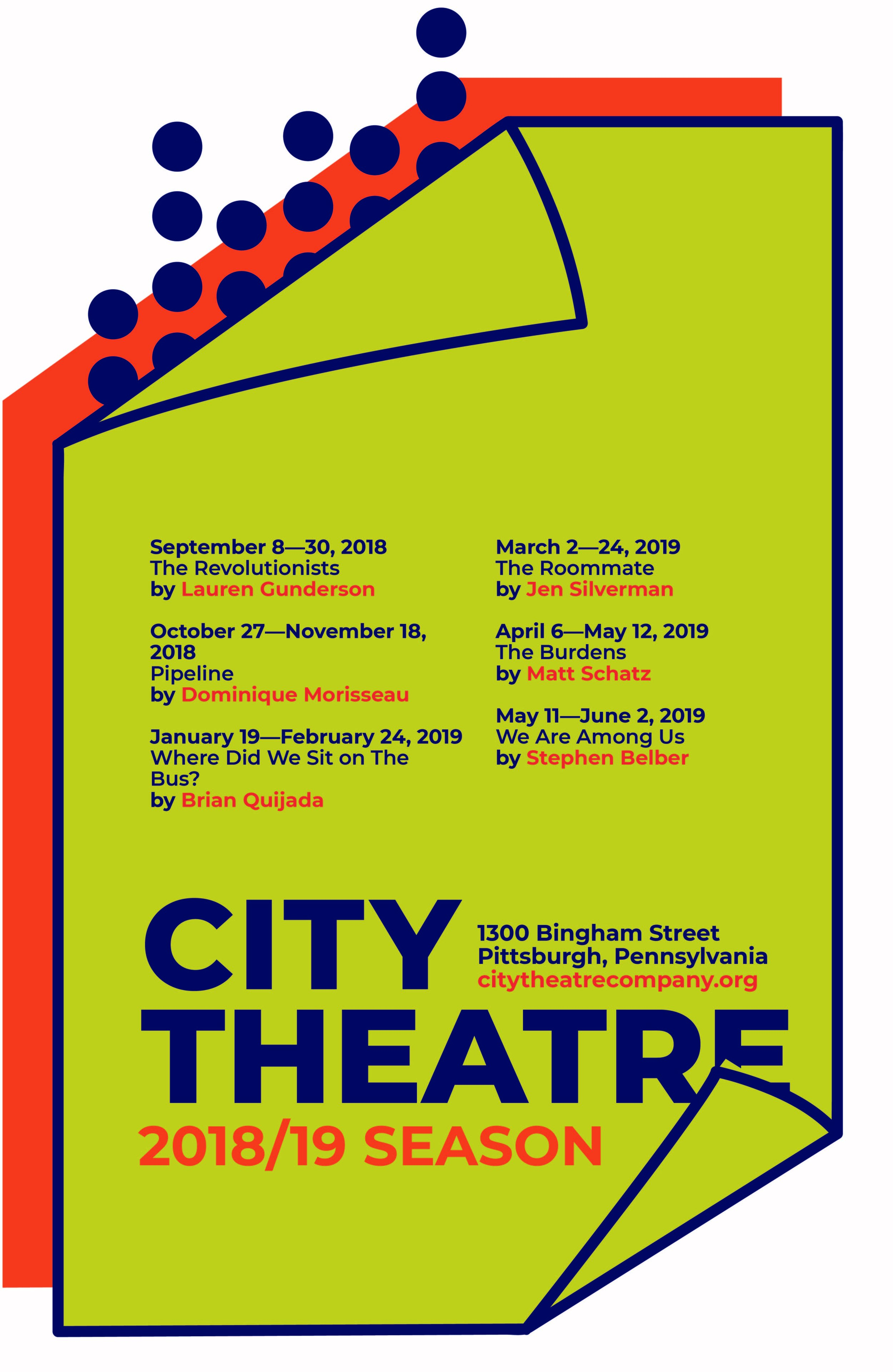 City Theatre Poster in Pittsburgh created in Adobe inDesign and Illustrator