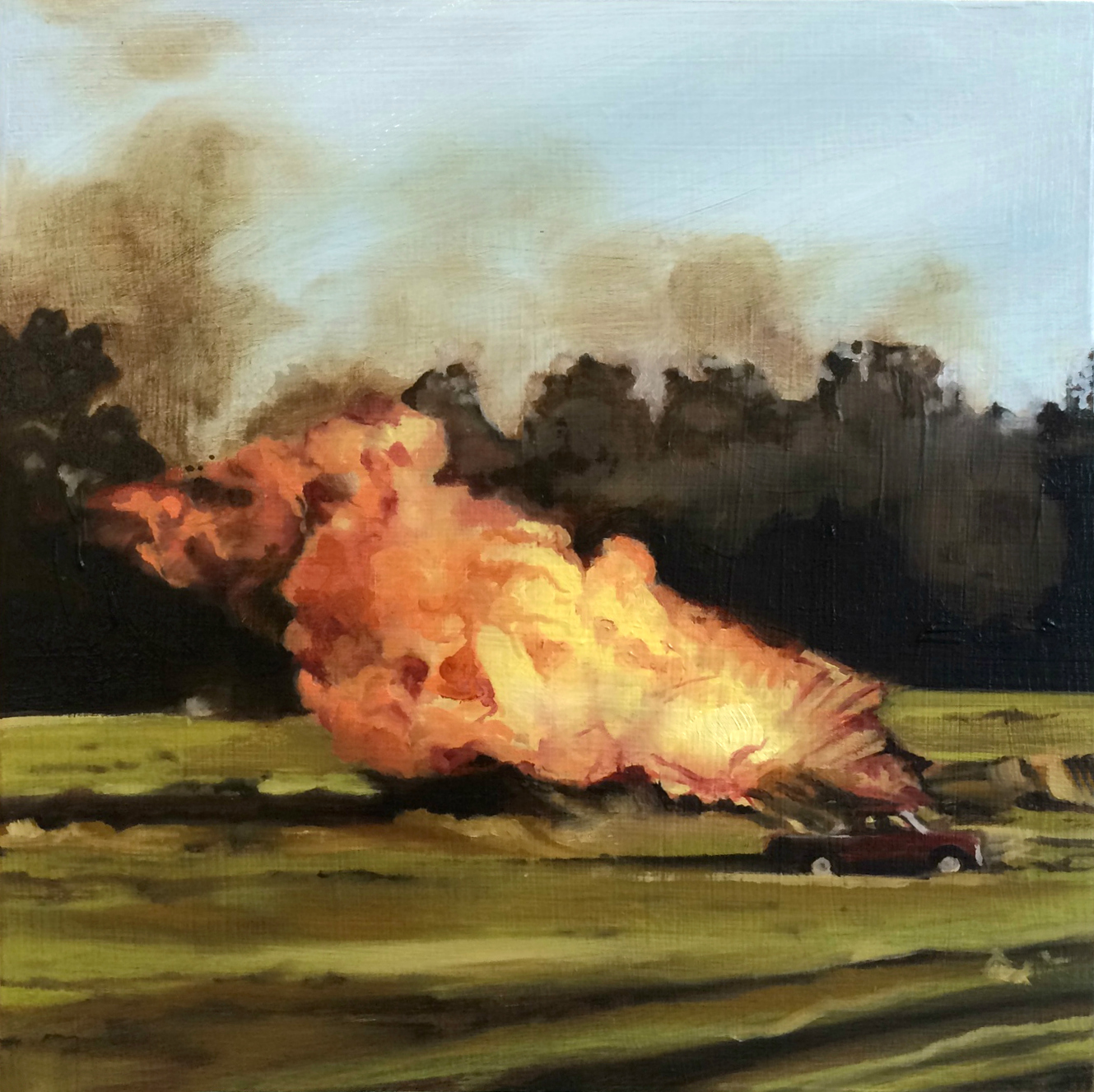 "SOLD ""It's Always Going to End Sometime"" 6x6"", oil on panel, 2014"