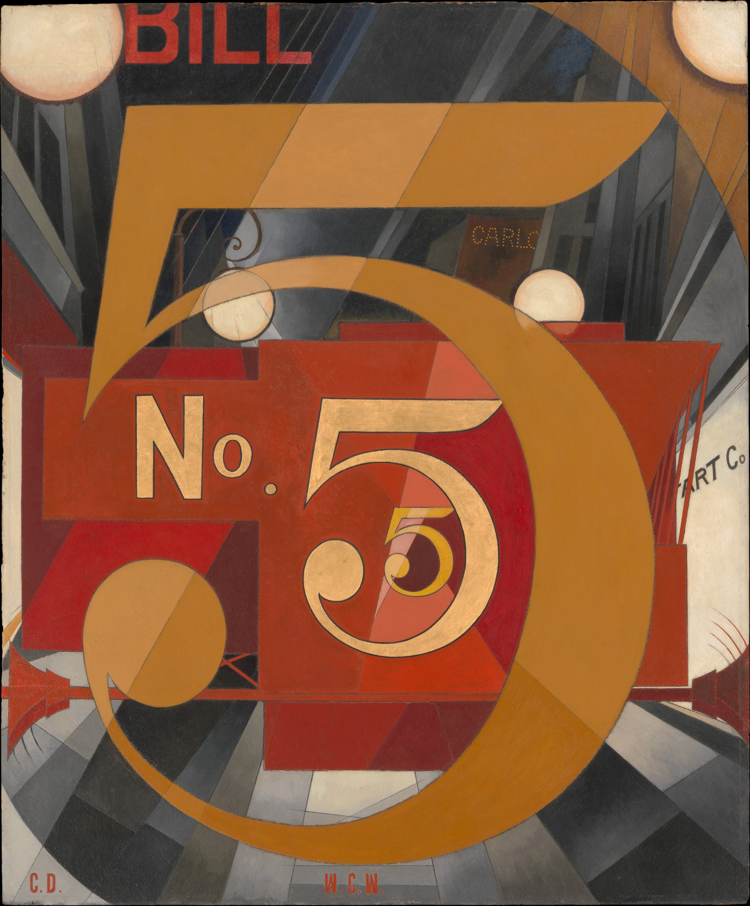 Charles Demuth, I Saw the Figure 5 in Gold (1928)