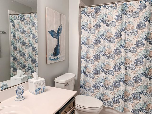 Coastal Guest Bath Refresh . . . #interiorsbykaitlyn #interiordesign #coastalinteriors #staugustine