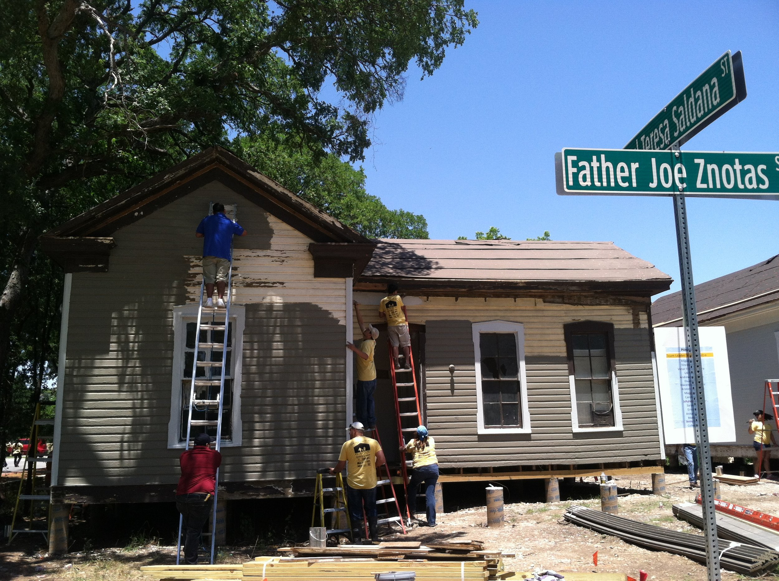 91 Rainey Street with a fresh coat of paint