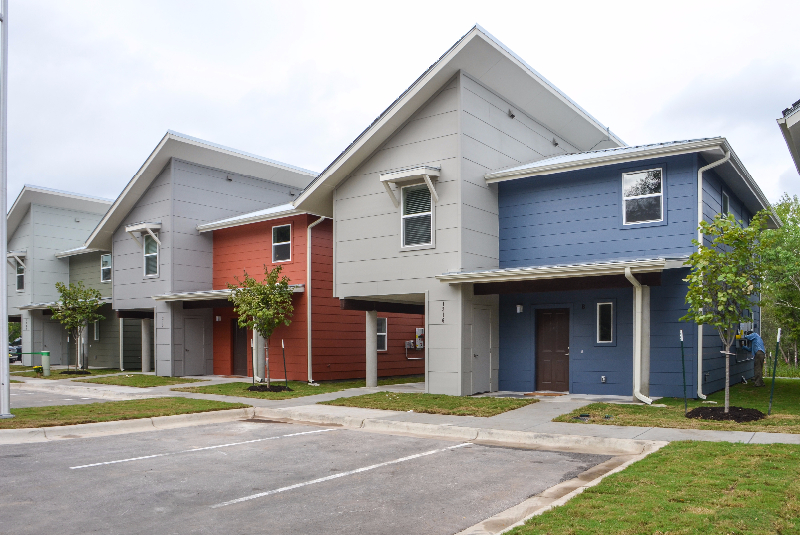 4 rental duplexes at Guadalupe Saldana Net Zero Subdivision