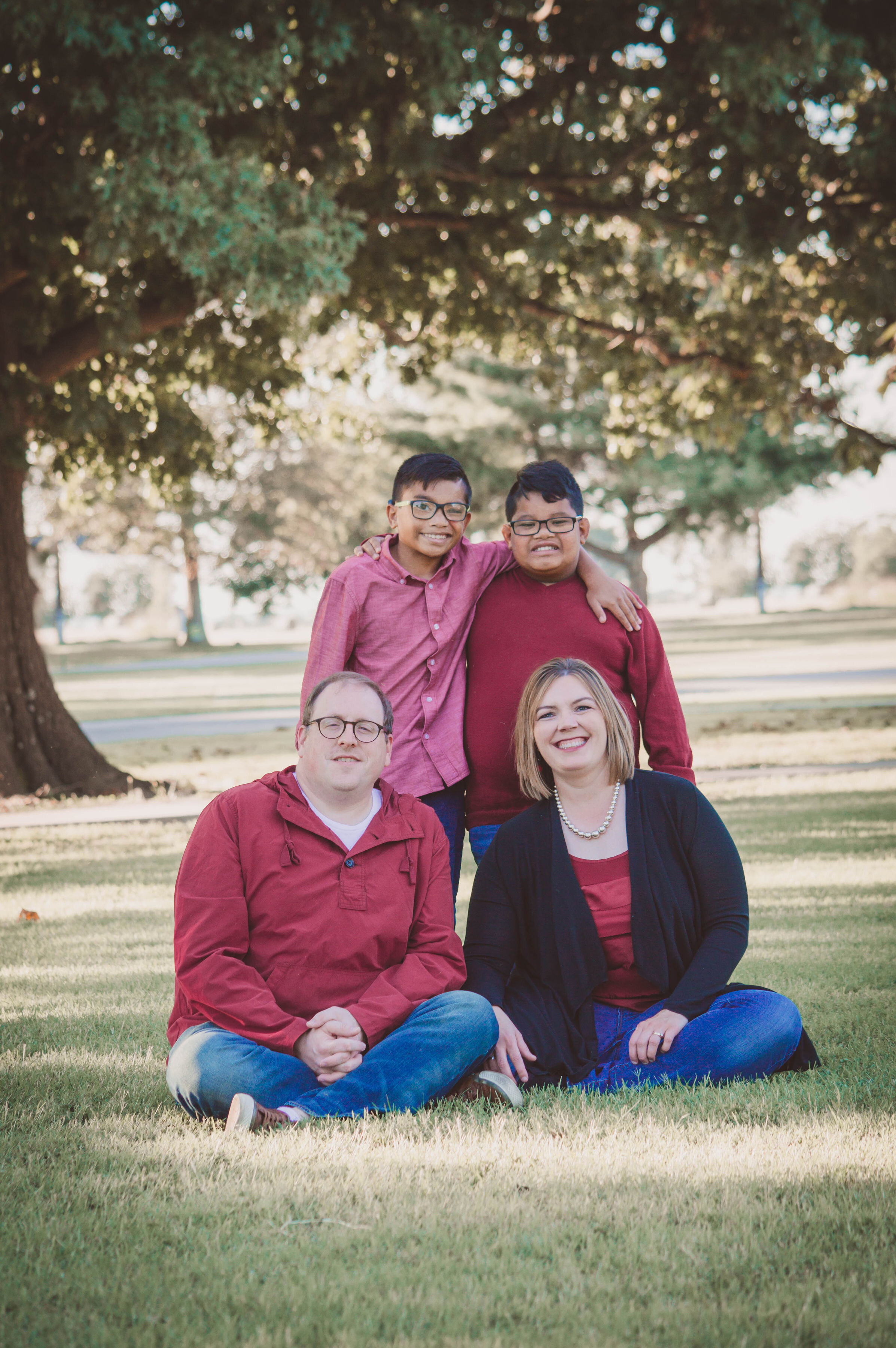 Kristi with her family.