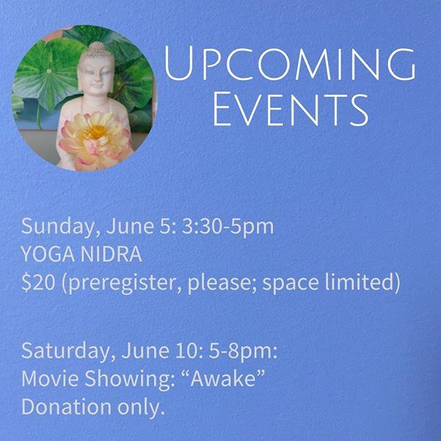 Just come! Register on graceyoga.org.  #graceyoga #yoganidra #northkingstown #awakemovie