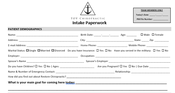 Arrival and Paperwork -