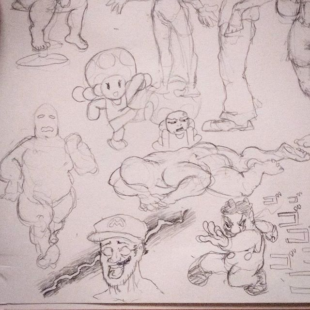 Got some #figuredrawing some #mario and #toadette up in here. #sketch #marioodyssey