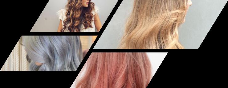 extension de cheveux coloré