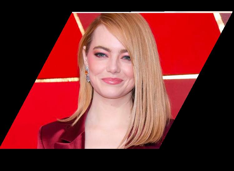 célébrité avec extensions de cheveux - Emma Stone