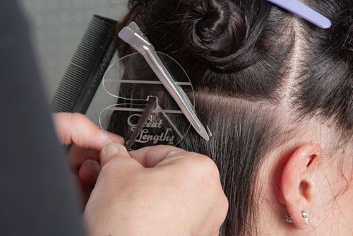 hair extensions for wedding: installation