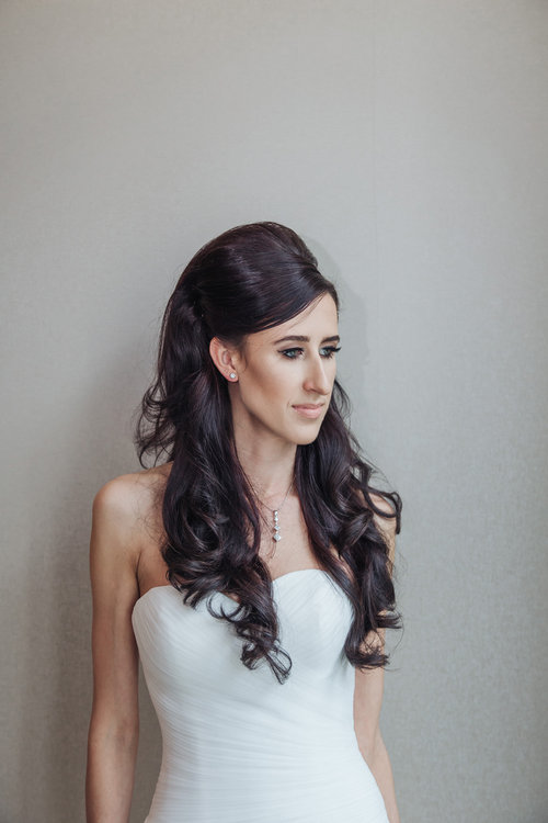 hair extensions for wedding: after