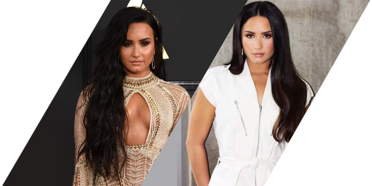 celebrities with hair extensions: Demi Lovato