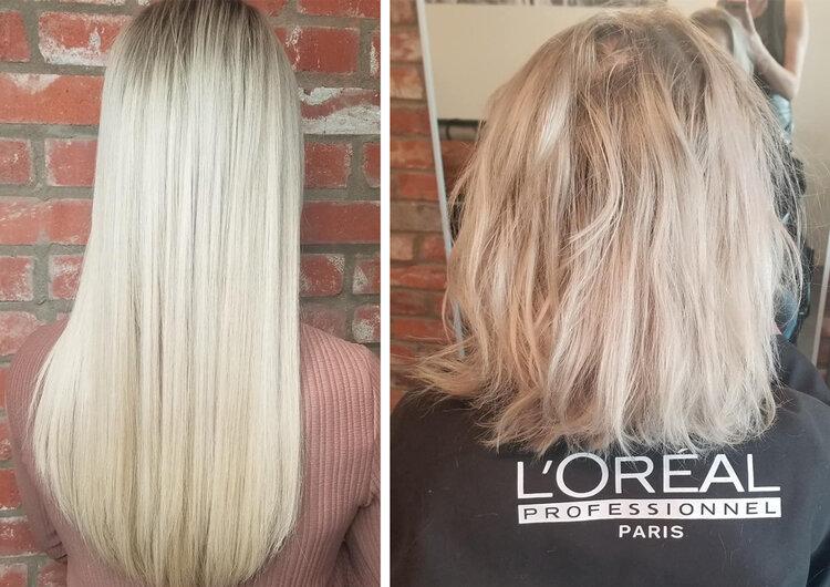 extension sur cheveux court
