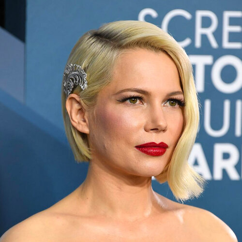 celebrities with hair extensions: Michelle Williams