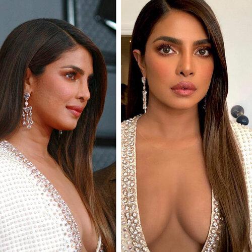 celebrities with hair extensions: Priyanka Chopra
