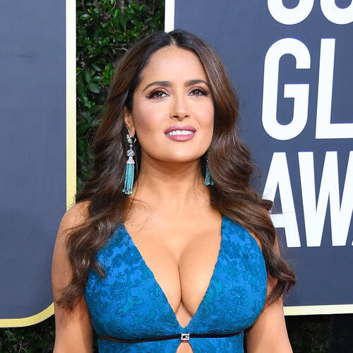 celebrities with hair extensions: Salma Hayak