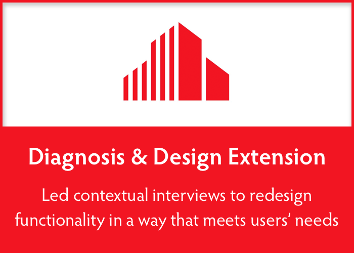 diagnosis & design extension  Designed a cohesive visual identity for existing tools, and improved existing functionality.