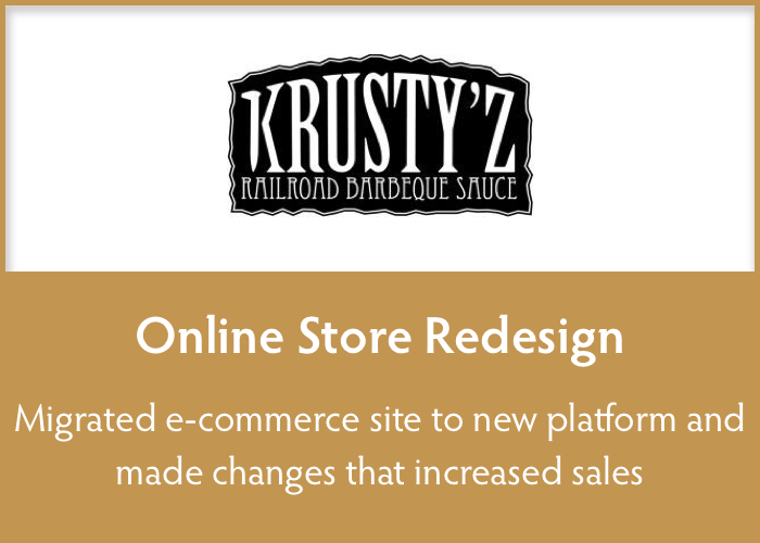 online store redesign  Redesigned e-commerce site to highlight products and increase sales.
