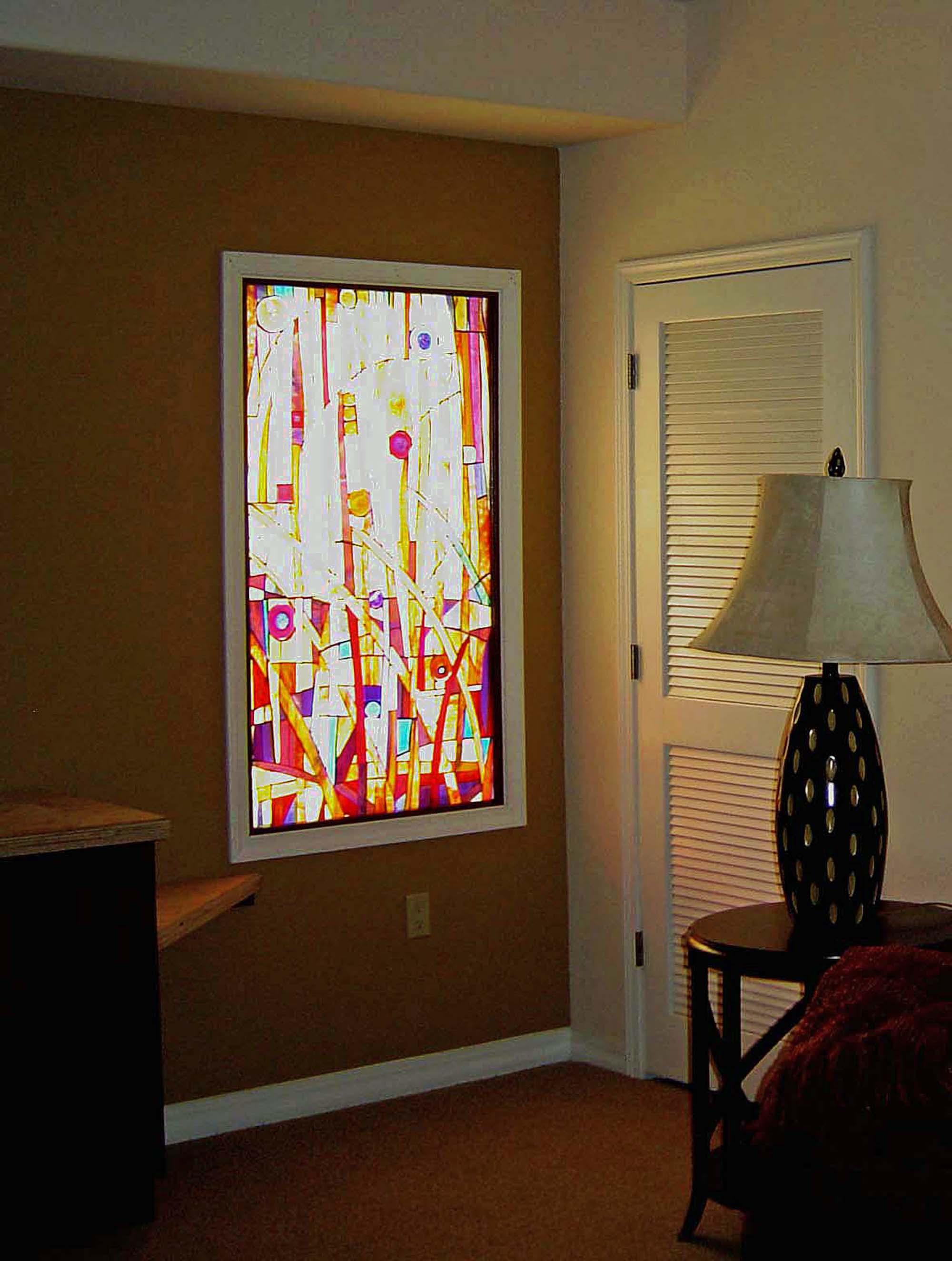 An odd window became a decorator's centerpiece.
