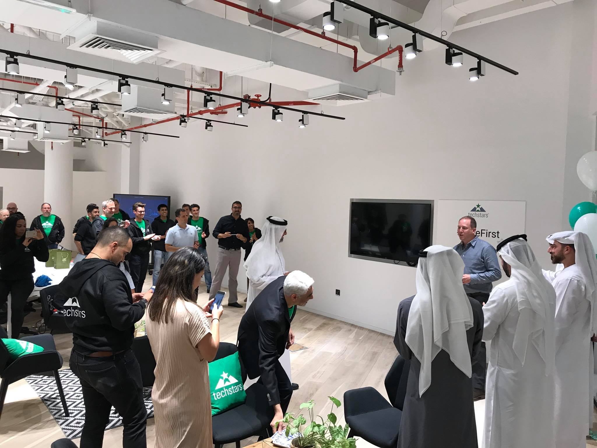 CEO of Techstars, David Cohen, visiting the newly opened co-working space for the program along with representatives from GINCO Group