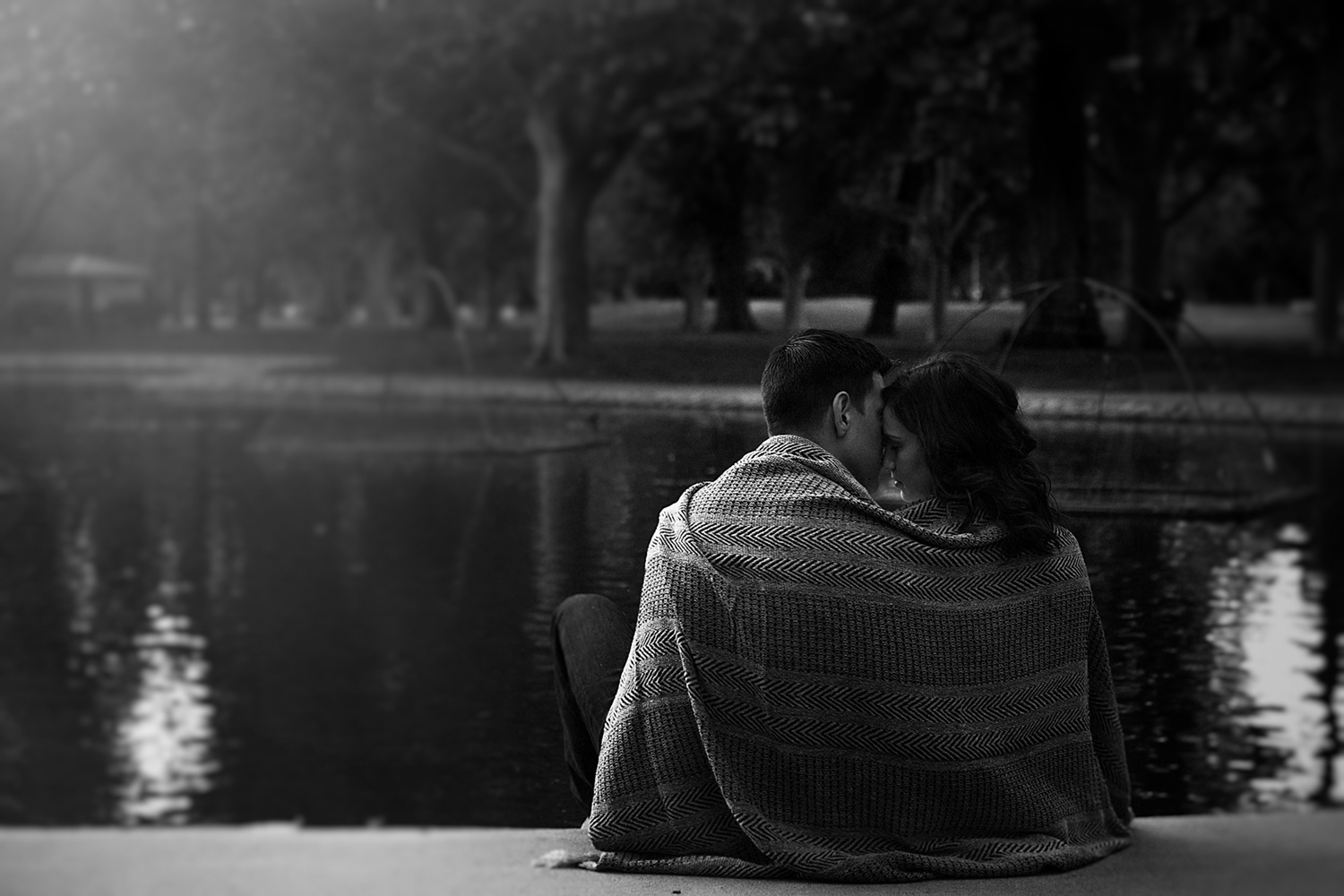 Beautiful black and white portrait of engaged couple in Sacramento CA.jpg