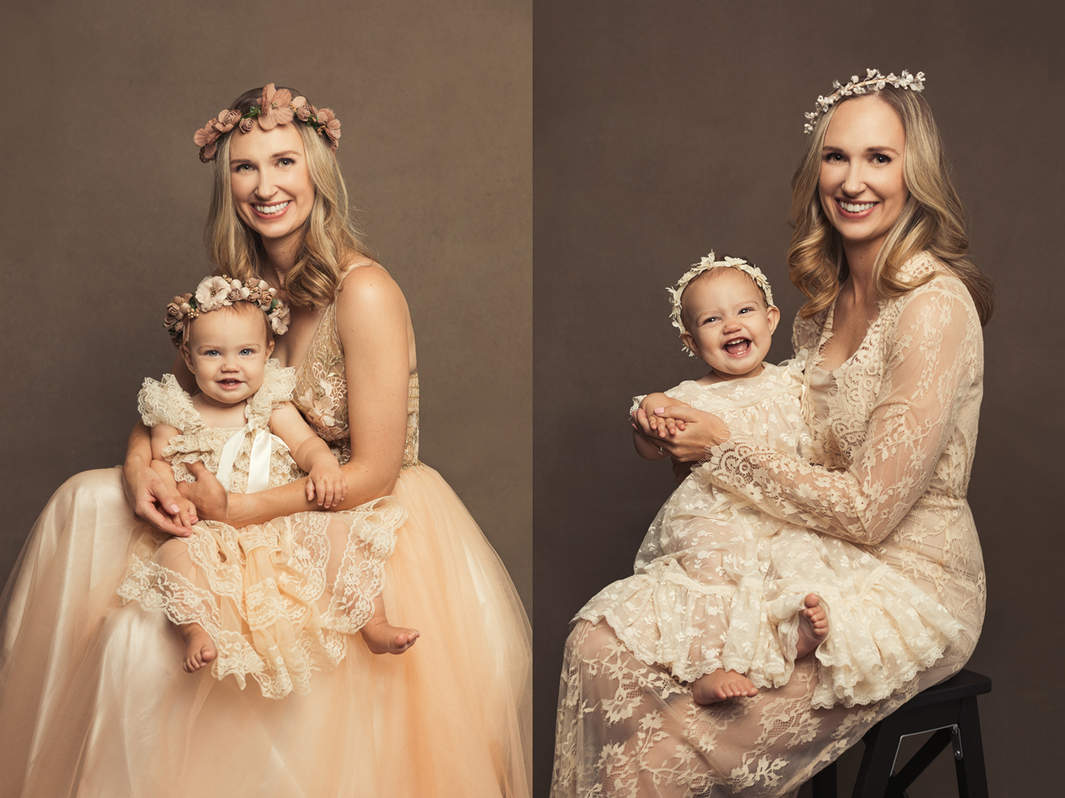 Portrait of a mother and her baby girls by Mayumi Acosta Photography in Sacramento CA.jpg