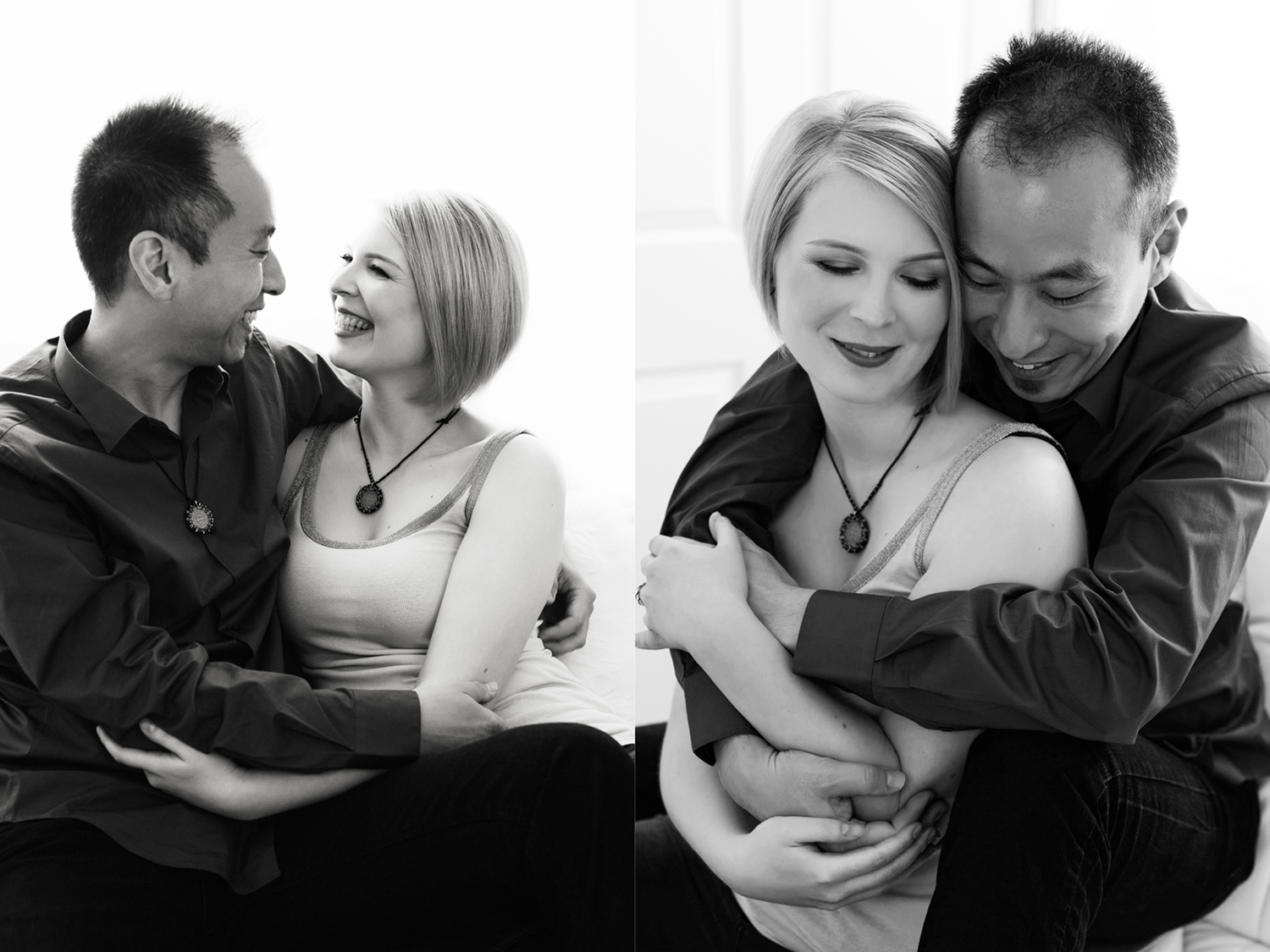Portrait of a couple celebrating 5 year anniversary with Mayumi Acosta photography