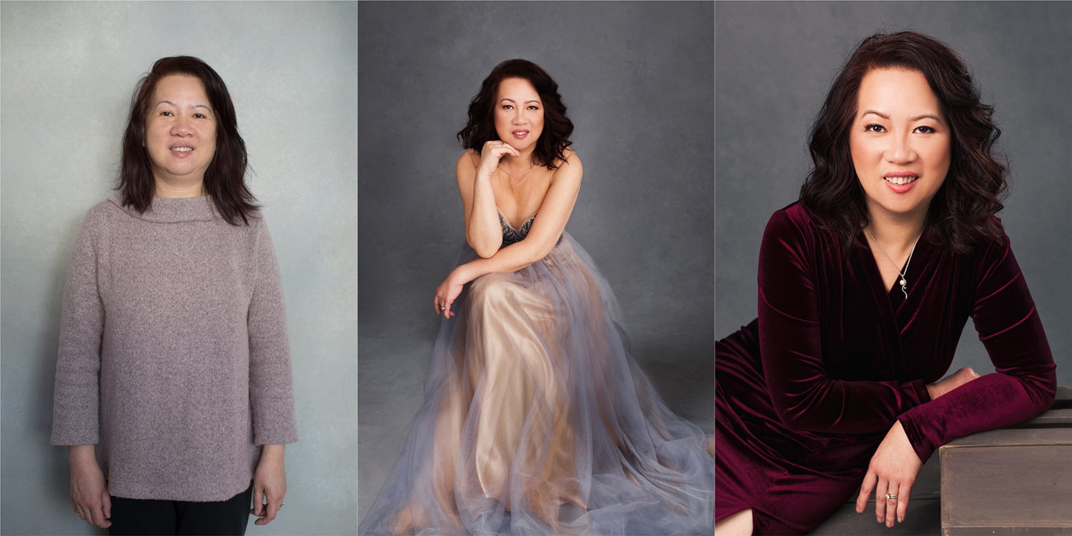 Stunning before and after photos during a photo shoot with Sacramento Photographer Mayumi Acosta