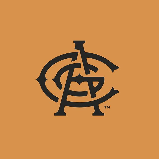 """For the last 6 months I've been working with AC Golden Brewing Co on lots of fun stuff I'll share soon. But we can start with their own rebrand. Based on the original logo for Adolph Coors (AC) created over 100 years ago but updated to be the face of the brewery. Big things coming soon from these guys. Excited to be a part of it. 👉🏻 for the old monogram. 👉🏻👉🏻 for the """"before"""" logo . . . . . #branding #rebranding #acgolden #craftbeer #colorado #denver #goldencolorado #coors #5280 #rebrand #design #graphicdesign #logodesign #logoinspirations #designspiration #beer #denverfoodie #identitydesign #monogram #brewery #acgoldenbrewingco"""